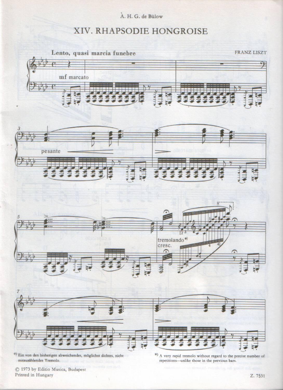 Лист венгерская рапсодия 1
